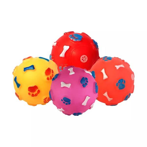 Brinquedo vinil bola pata ossinho para caes