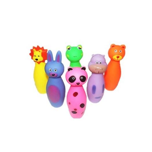 Brinquedo vinil boliche zoo pet