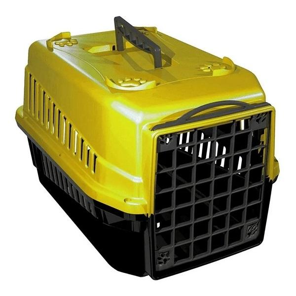 Caixa de transporte mec pet amarelo