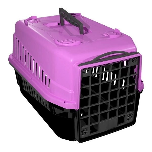Caixa de transporte mec pet rosa