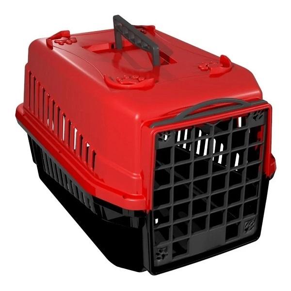 Caixa de transporte mec pet vermelho