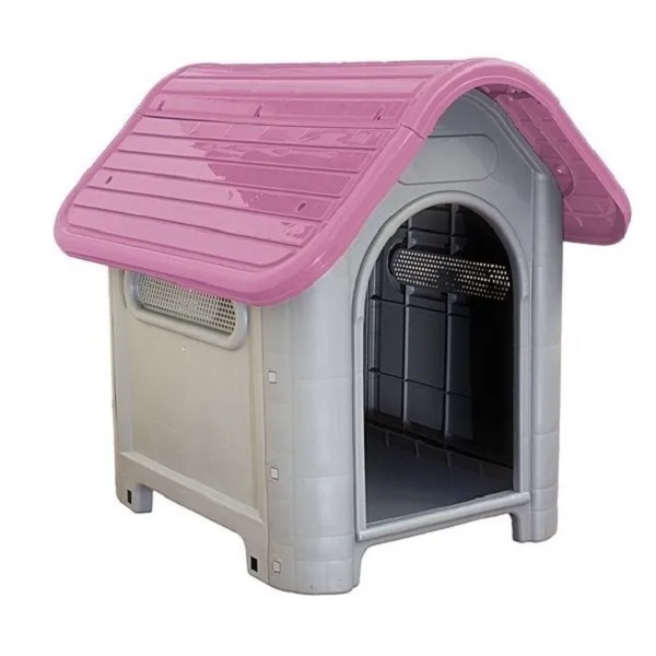 Casa plástica mec pet dog home Nº3 rosa