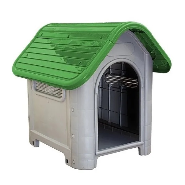 Casa plástica mec pet dog home Nº3 verde