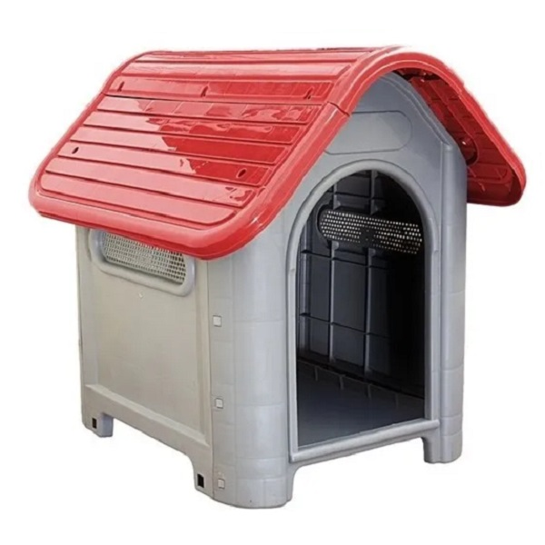 Casa plástica mec pet dog home Nº3 vermelha