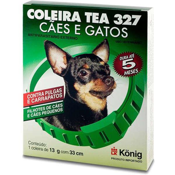 Coleira antiparasitária externo 33cm para cachorros