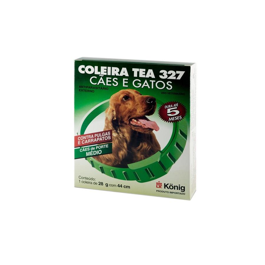 Coleira antiparasitária externo 44cm para cachorros