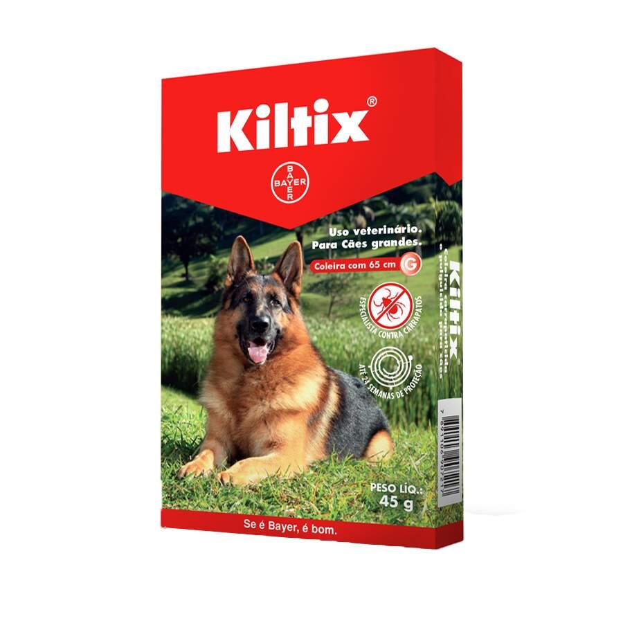 Coleira bayer antipulgas e carrapatos kiltix para cães
