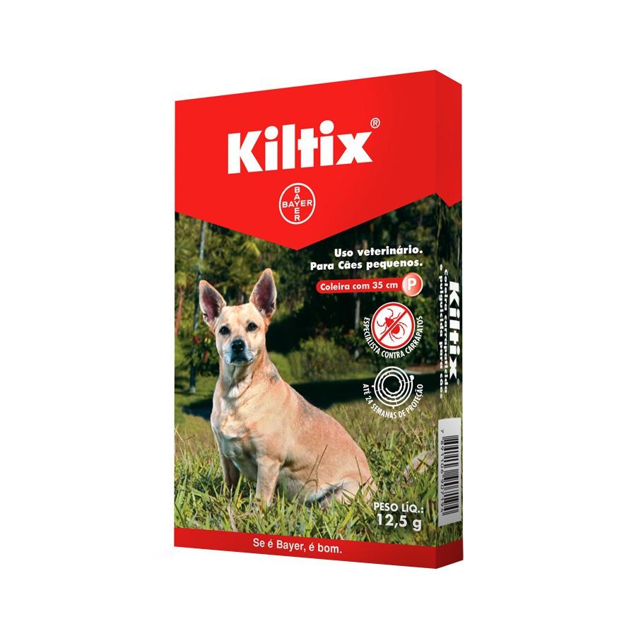 Coleira bayer antipulgas e carrapatos kiltix pequena para cães