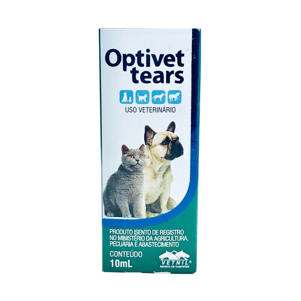 Colírio vetnil optivet tears lubrificante ocular para cães e gatos