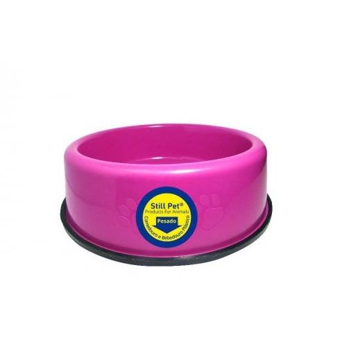 Comedouro pesado rosa 750ml Still Pet