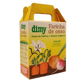 Fertilizante dimy mineral farinha de ossos 1kg