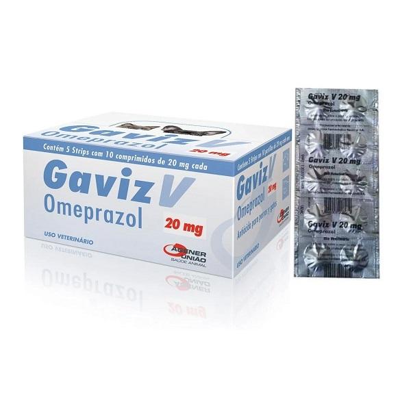 Gaviz V Omeprazol 20mg Strip com 10 Comprimidos