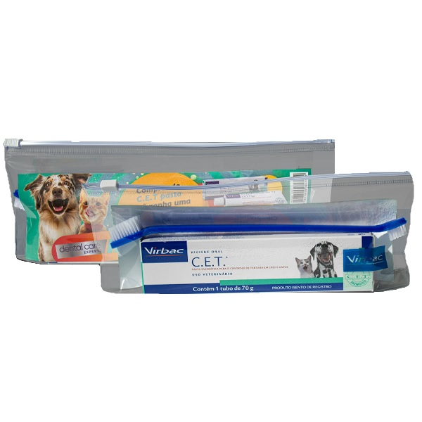 Kit C.E.T saude oral para caes e gatos