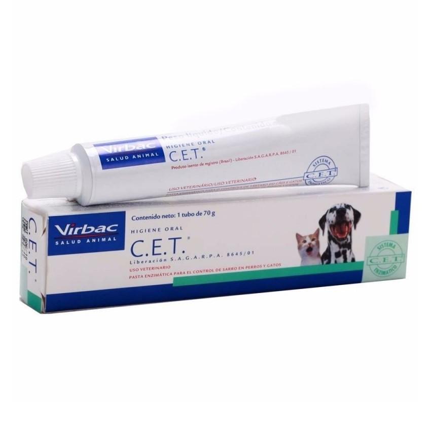Pasta dental virbac enzimática c.e.t para cães e gatos de 70g