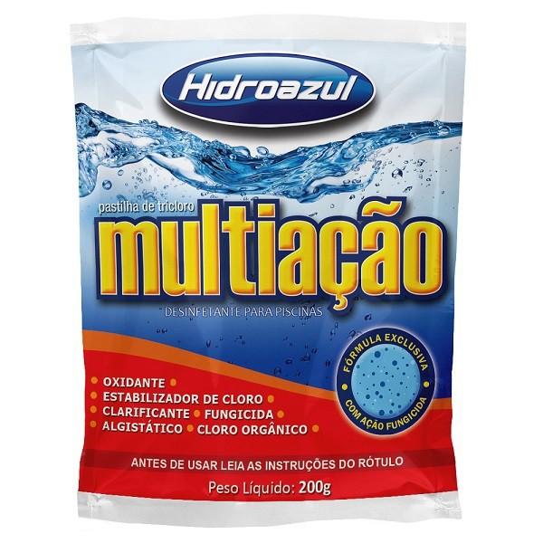 Pastilha de cloro multi ação hidroazul 200g