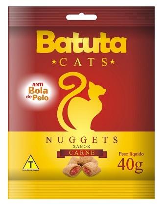 Petisco batuta nuggets carne para gatos 40g