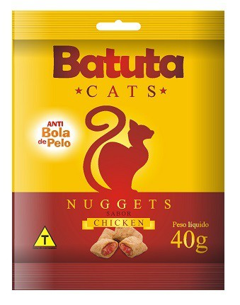 Petisco batuta nuggets frango para gatos 40g