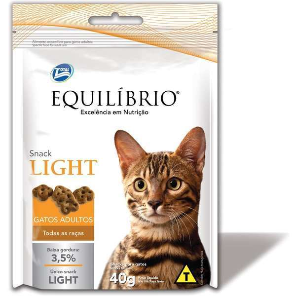Petisco equilibrio snack light para gatos 40g