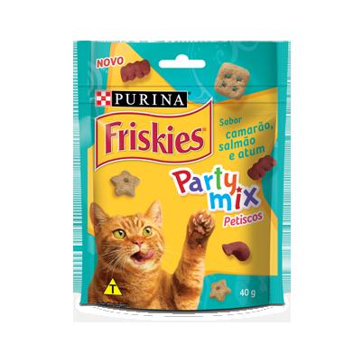 Petisco friskies party mix camarão 40g