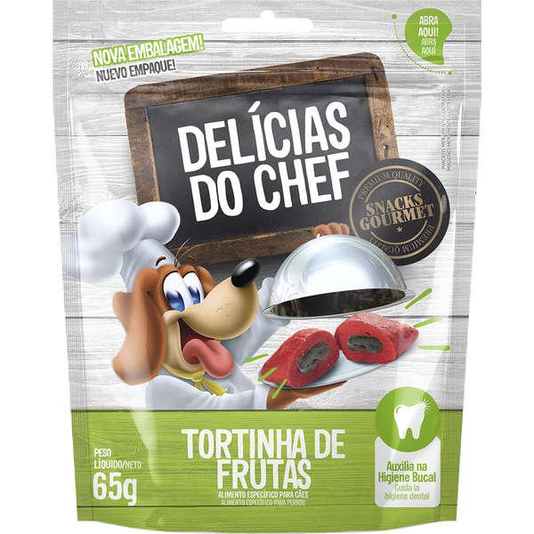 Petisco Petitos Delicias do Chef Sabor Tortinha de Frutas para Cães