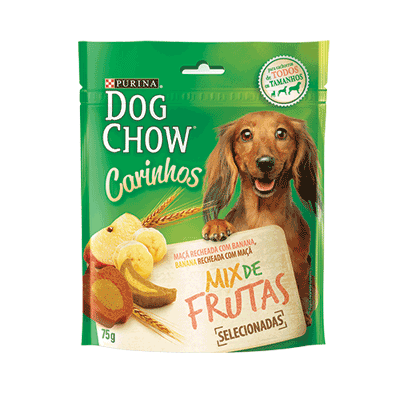 Petisco purina dog chow carinhos mix frutas 75g