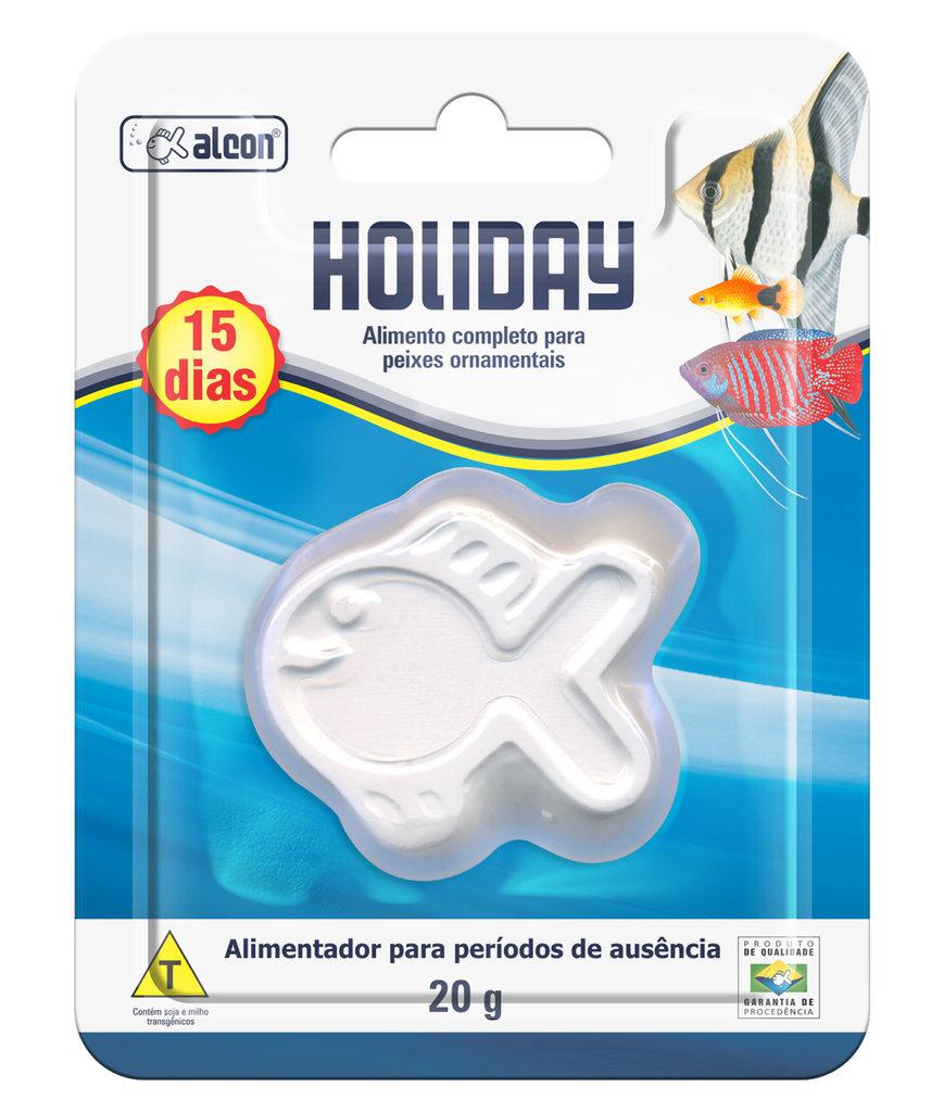 Ração alcon holiday 20g para 15 dias