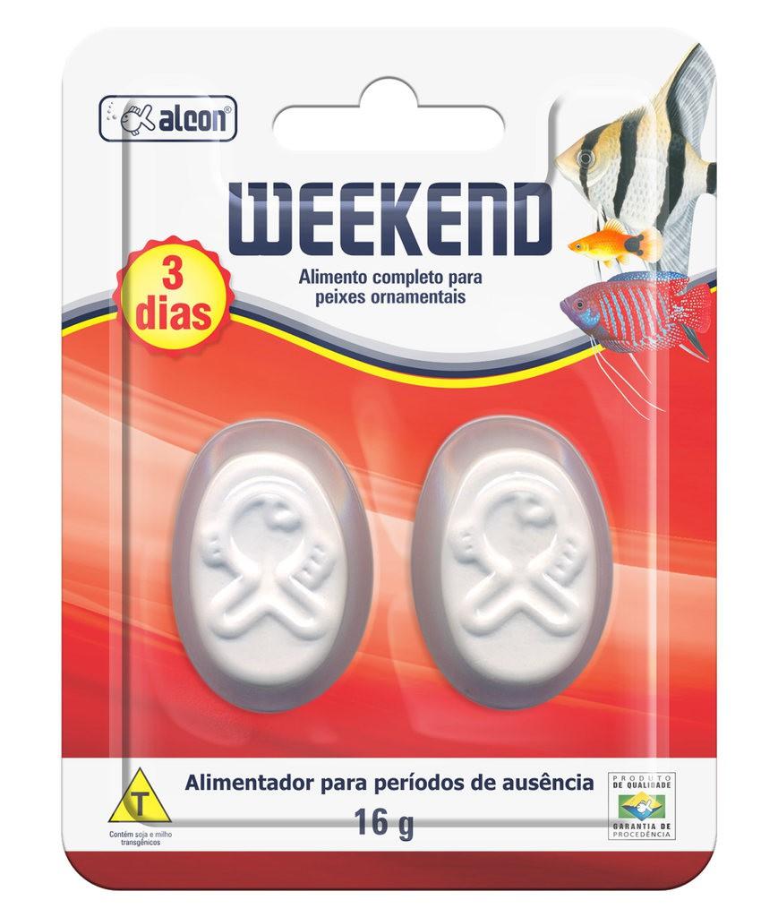 Ração alcon weekend 16g para 3 dias
