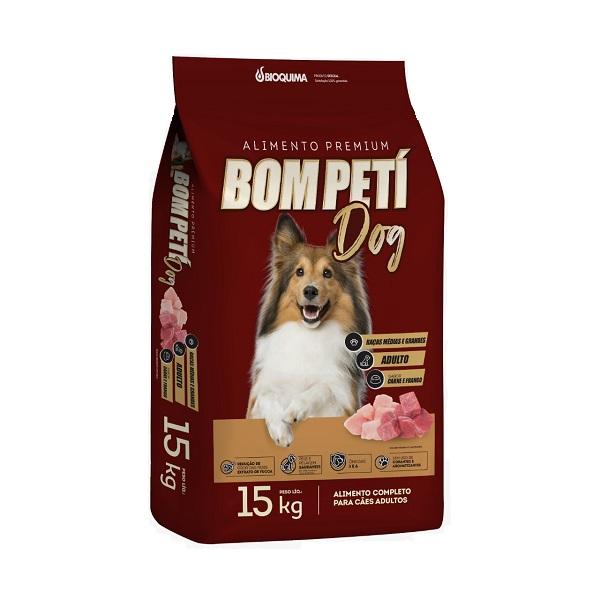 Ração Bom Peti Carne e Frango para Cães Adultos Raças Médias e Grandes 15kg