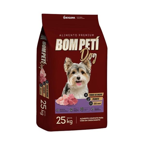 Ração Bom Peti Carne e Frango para Cães Filhote 25kg