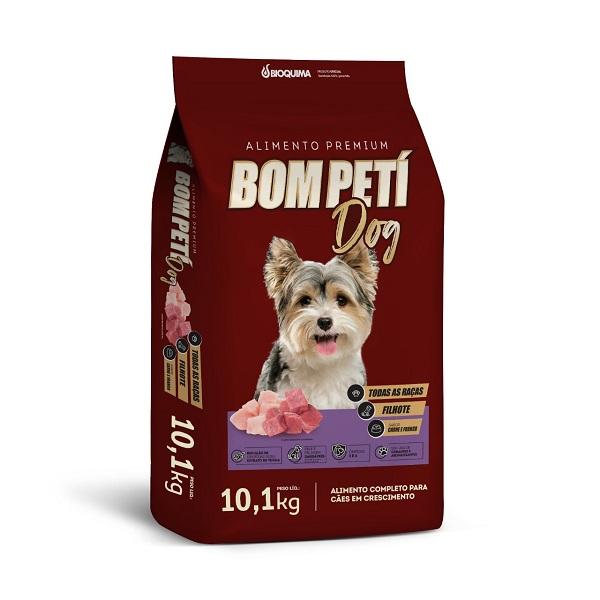 Ração Bom Peti Carne e Frango para Cães Filhote