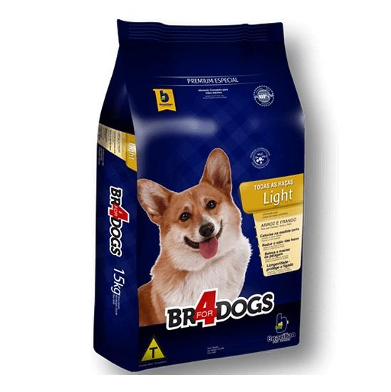 Ração br4dog light frango e arroz para cães adultos 15kg