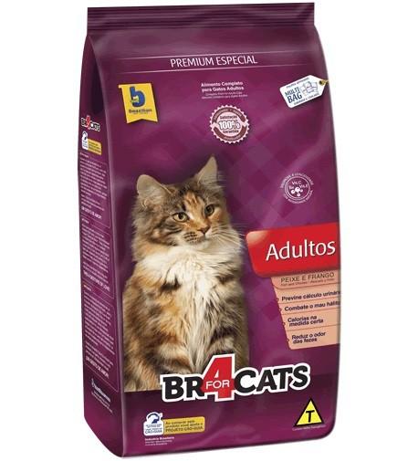 Ração brazilian foods br4 cats adultos