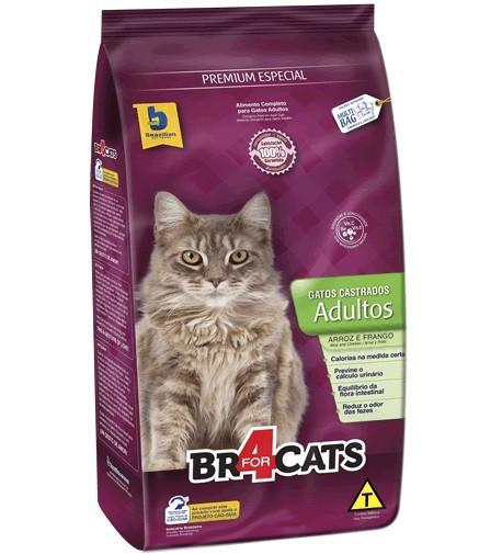 Ração brazilian foods br4 cats castrados