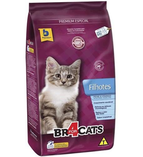 Ração brazilian foods br4 cats filhotes 7kg