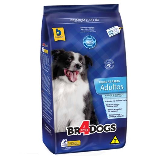 Ração brazilian foods br4 dog adulto para raças médias e grandes