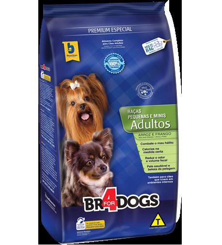 Ração brazilian foods br4 dog adulto para raças pequenas e médias