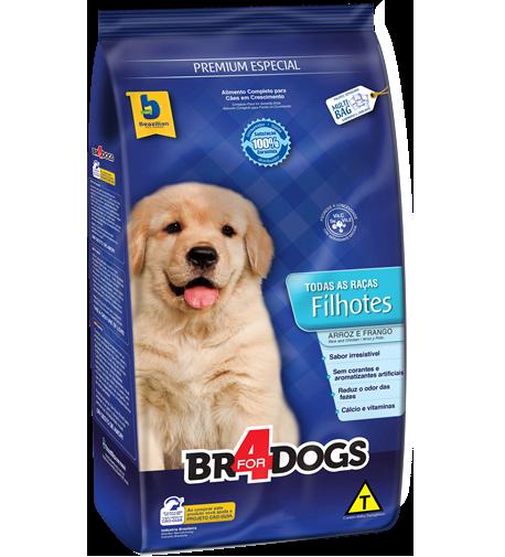 Ração brazilian foods br4 dog filhotes todas as raças 15kg