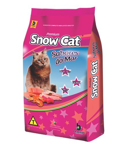 Ração brazilian foods snow cat sabores do mar 25kg
