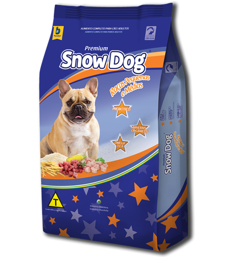 Ração brazilian foods snow dog adulto para raças pequenas e médias