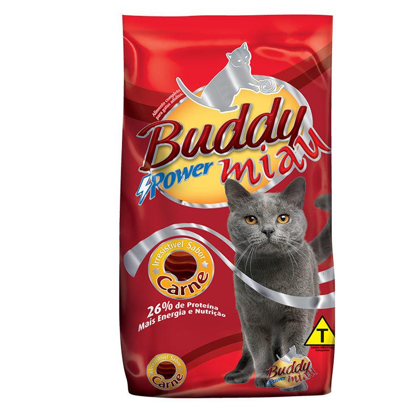 Ração buddy miau carne para gatos adultos 25kg