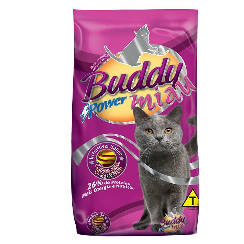 Ração buddy miau mix carne com vegetais para gatos adultos 25kg