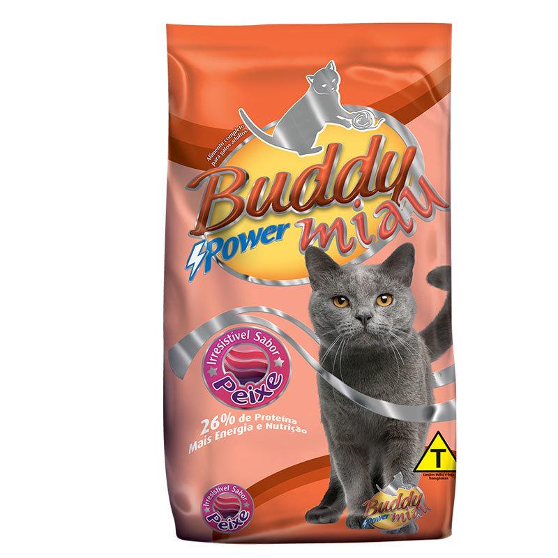 Ração buddy miau peixe para gatos adultos 25kg
