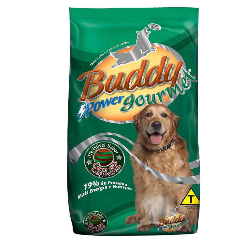 Ração Buddy Power Gourmet Carne com Legumes para Cães Adultos