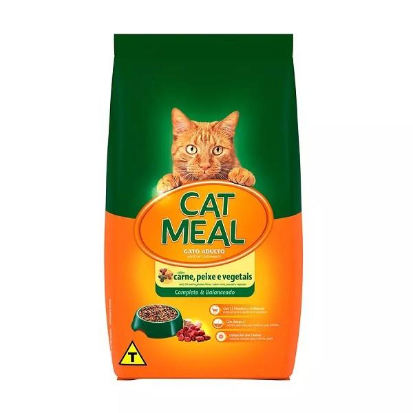 Ração cat meal mix carne, peixe e vegetais para gatos 20kg