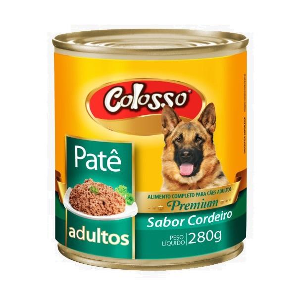 Ração colosso lata para cães adulto cordeiro pate 280g