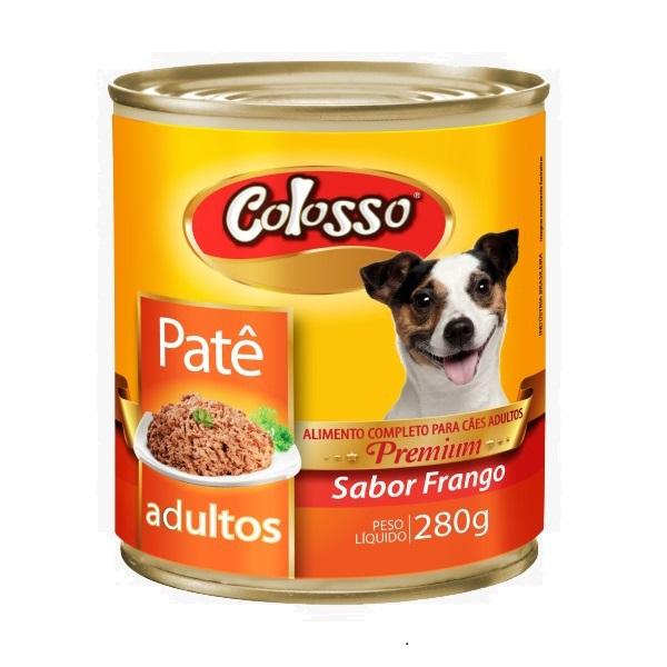 Ração colosso lata para cães adulto frango pate 280g