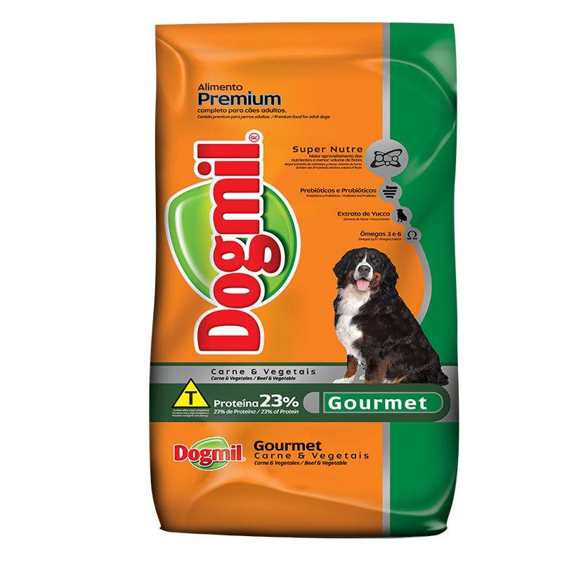 Ração Dogmil Gourmet Carne e Vegetais para Cães Adultos