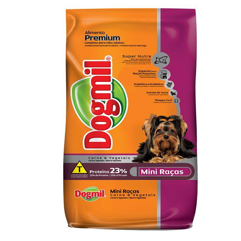 Ração Dogmil Mini Raças Carne para Cães Adultos Raças Pequenas