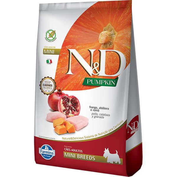 Ração Farmina N&D Pumpkin Carnes Nobres Frango para Cães Adultos de Raças Pequenas