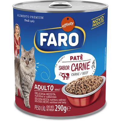 Ração faro patê carne para gatos adultos 290g